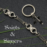 Saints & Sinners - choose dark black onyx versus white moonstone, modern silver jewelry