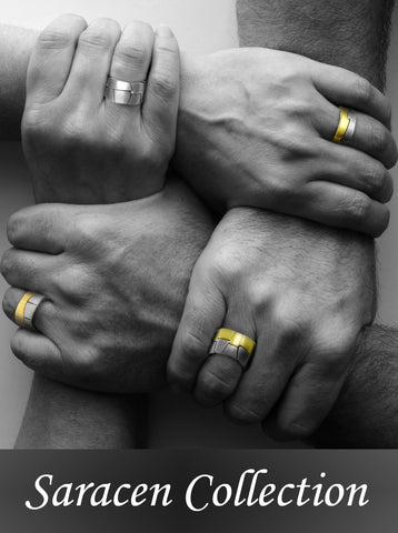 Saracen strength binds us together interlocking silver designer rings annika rutlin