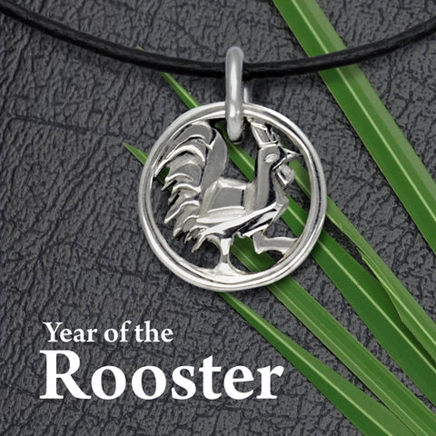 Annika Rutlin designer chinese year of the rooster silver jewellery pendant necklace