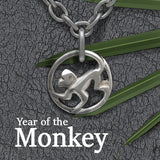 'Year of the monkey' cool, modern, designer silver, jewellery collection by Annika Rutlin
