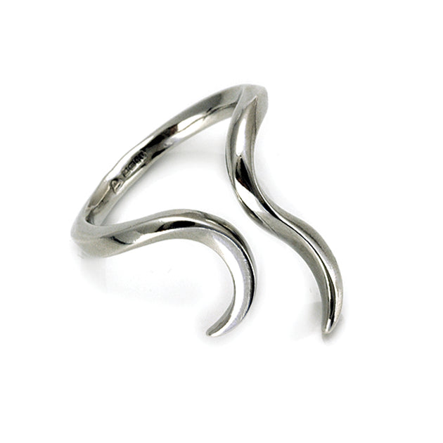 Annika Rutlin unique designer jewellery silver carved divination ring