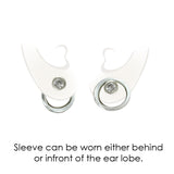 alter the look of your earrings with composable silver earring jackets by Annika Rutlin