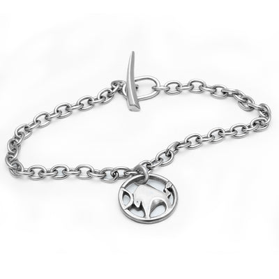 Taurus or Year of Ox solid silver jewellery chain bracelet by Annika Rutlin Designs