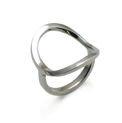 sterling silver designer saddle style ring by Annika Rutlin jewellery