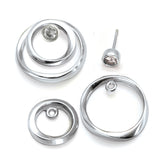 Annika Rutlin silver and white sapphire combination layered earrings Goddess Tara