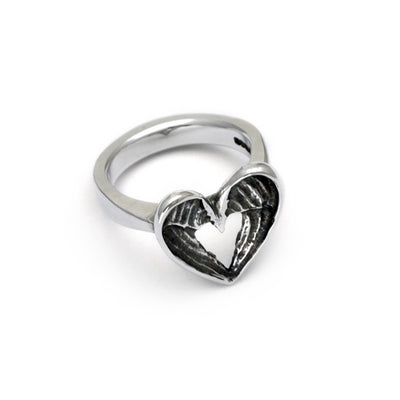 sterling silver designer angel wings ring by Annika Rutlin