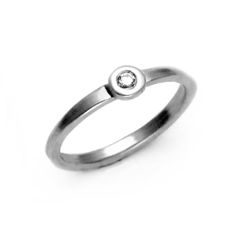 Jewellery designer Annika Rutlin Cairn pebble diamond stacking ring