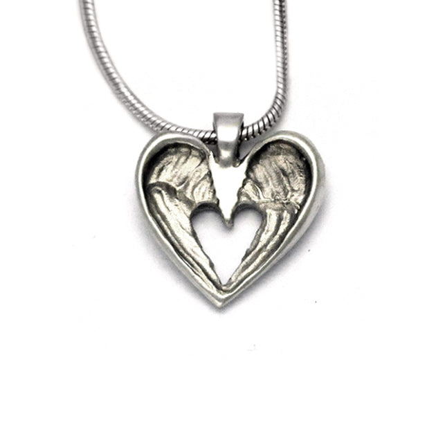small silver angel wings pendant on snake chain Annika Rutlin