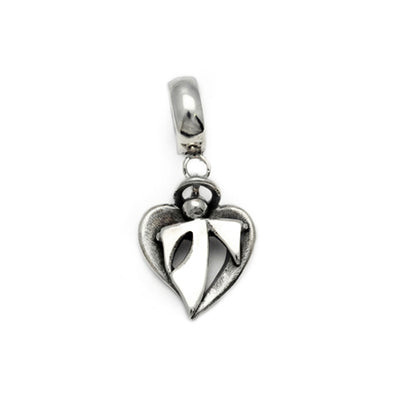 Solid silver hanging angel Pandora compateble bead charm