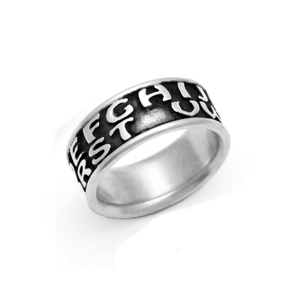 poignant silver ring carrying missing you cryptic message