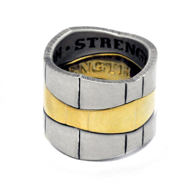 silver gold vermeil geometric stacking rings designer Annika Rutlin jewelry
