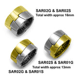 Saracen silver and gold vermeil armour style interlocking ring
