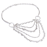 Annika Rutlin silver multi chain designer jewellery necklace