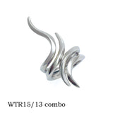 WTR15 combined with WTR13 eagle and Harmony Annika Rutlin interlocking silver rings