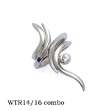 Harmony Eagle combination interlocking Annika Rutlin silver white sapphire rings