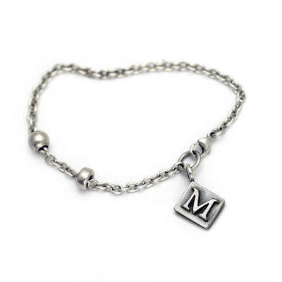Alphabet Single Charm Letter Bracelet ALB