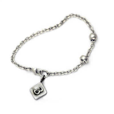 Alphabet Single Charm Number Bracelet ANB