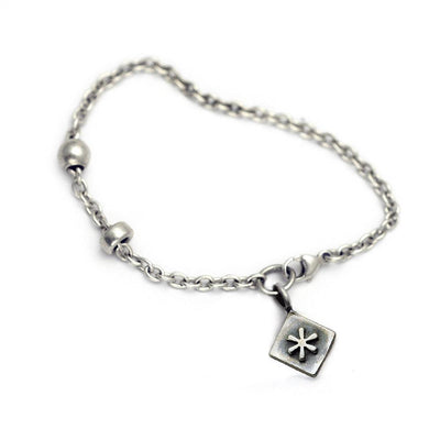 Alphabet Single Charm Symbol Bracelet ASB