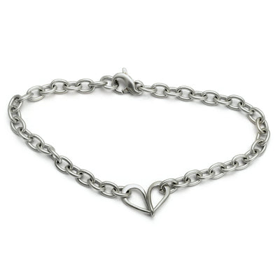 ELB21 Endless Love infinity heart bracelet chain forged sterling silver