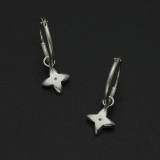Aniara tiny heart star sleeper earring SFE22P