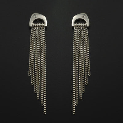 Cirque diamond set tassle dangly earrings CE67D