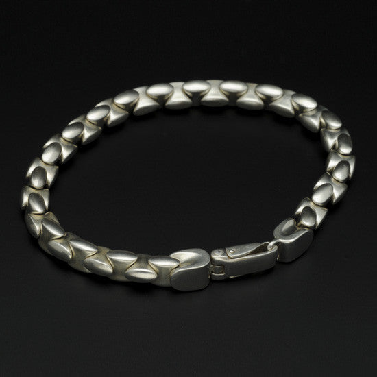 BlackJack interlocked silver bead bracelet BJB31