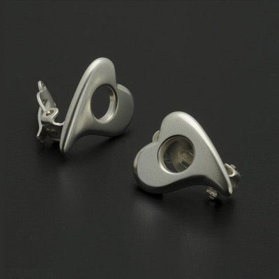 Amitie heart clip-on earring AEH24
