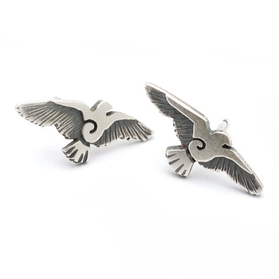 Raven flying bird earrings RE21