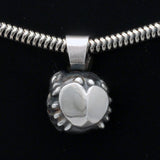 Talisman silver Cancer horoscope pendant on snake