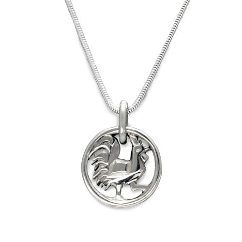 Year of the Rooster pendant on snake chain YRR-NS2