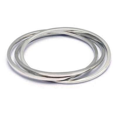UB63 United triple interlocked oval bangles