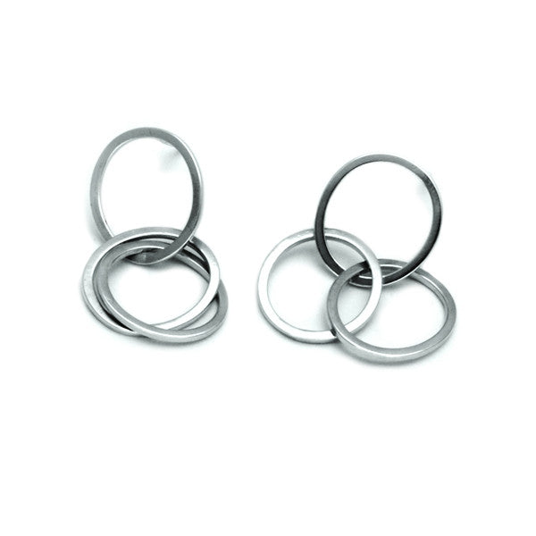 UE22 United Earring Circle Drop Stud Earrings