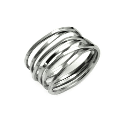 UR01 United silver coil ring