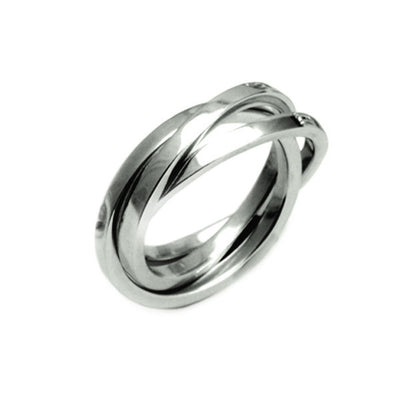 UR02 United silver russian wedding ring