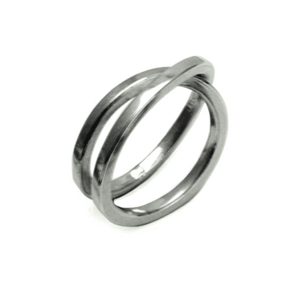 UR03 United silver coil wrap ring