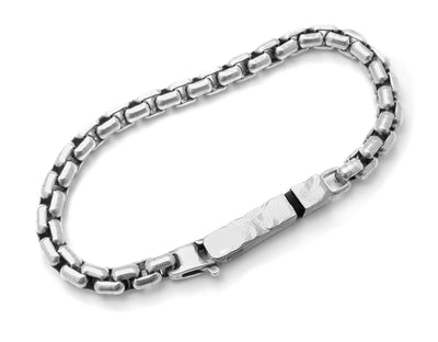 XB22 sterling silver heavy mens bracelet