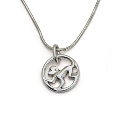 Year of the Monkey pendant on snake chain YRM-NS2