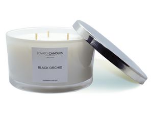 White 3-Wick Candle - Black Orchid