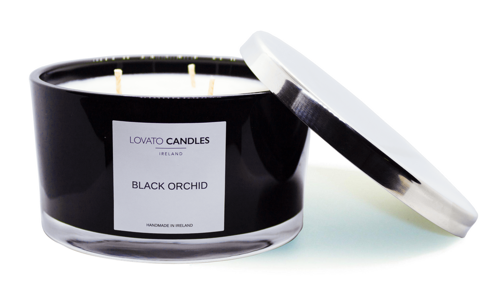 Black 3-Wick Candle - Black Orchid