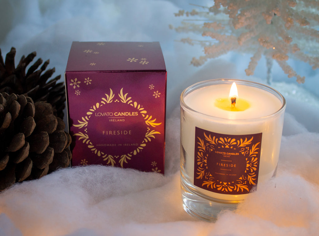 Clear Scented Candle with Luxury Box - Fireside