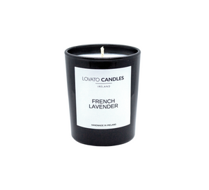 Black Votive Candle - French Lavender