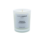 White Votive Candle - French Lavender
