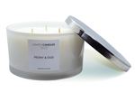 White 3-Wick Candle - Peony & Oud