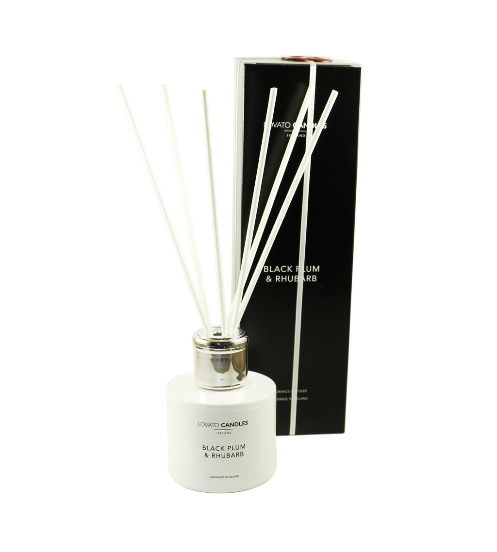 White Diffuser - Black Plum & Rhubarb - Lovato Candles