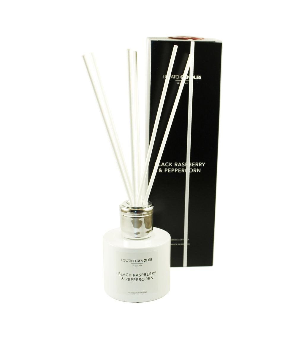 White Diffuser - Black Raspberry & Peppercorn - Lovato Candles