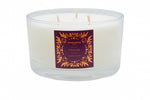 Clear 3-Wick Candle - Fireside