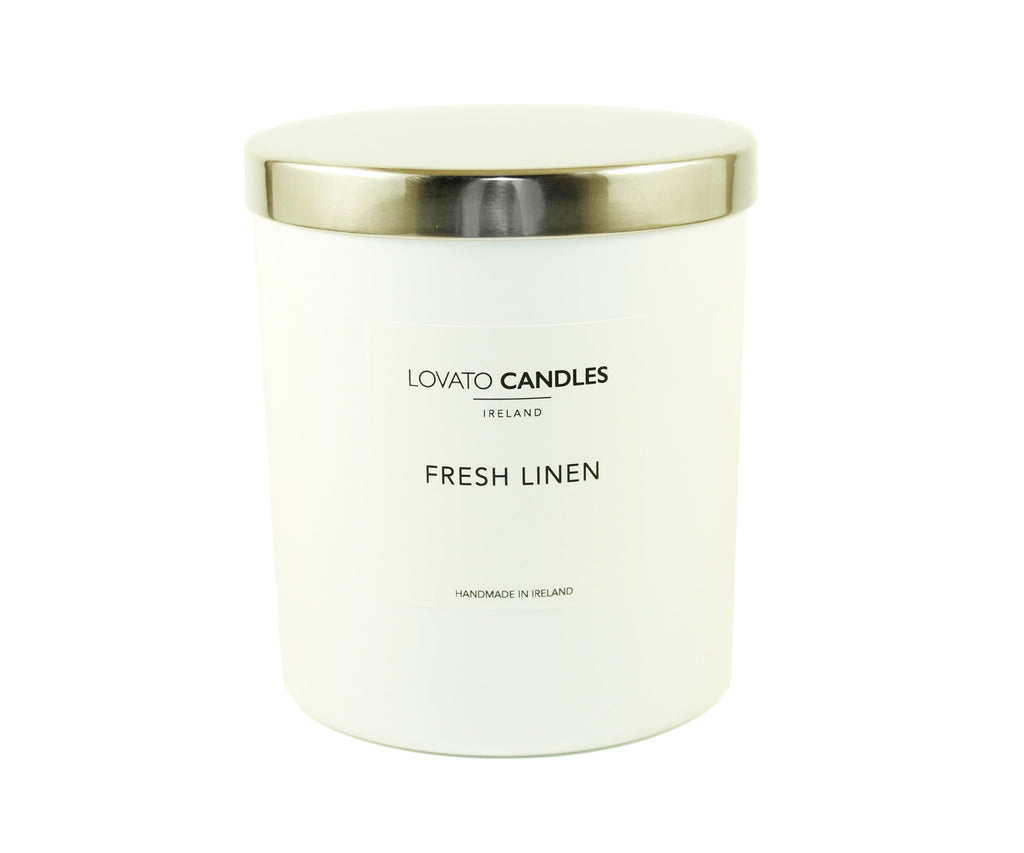 Luxury White Candle - Fresh Linen - Lovato Candles