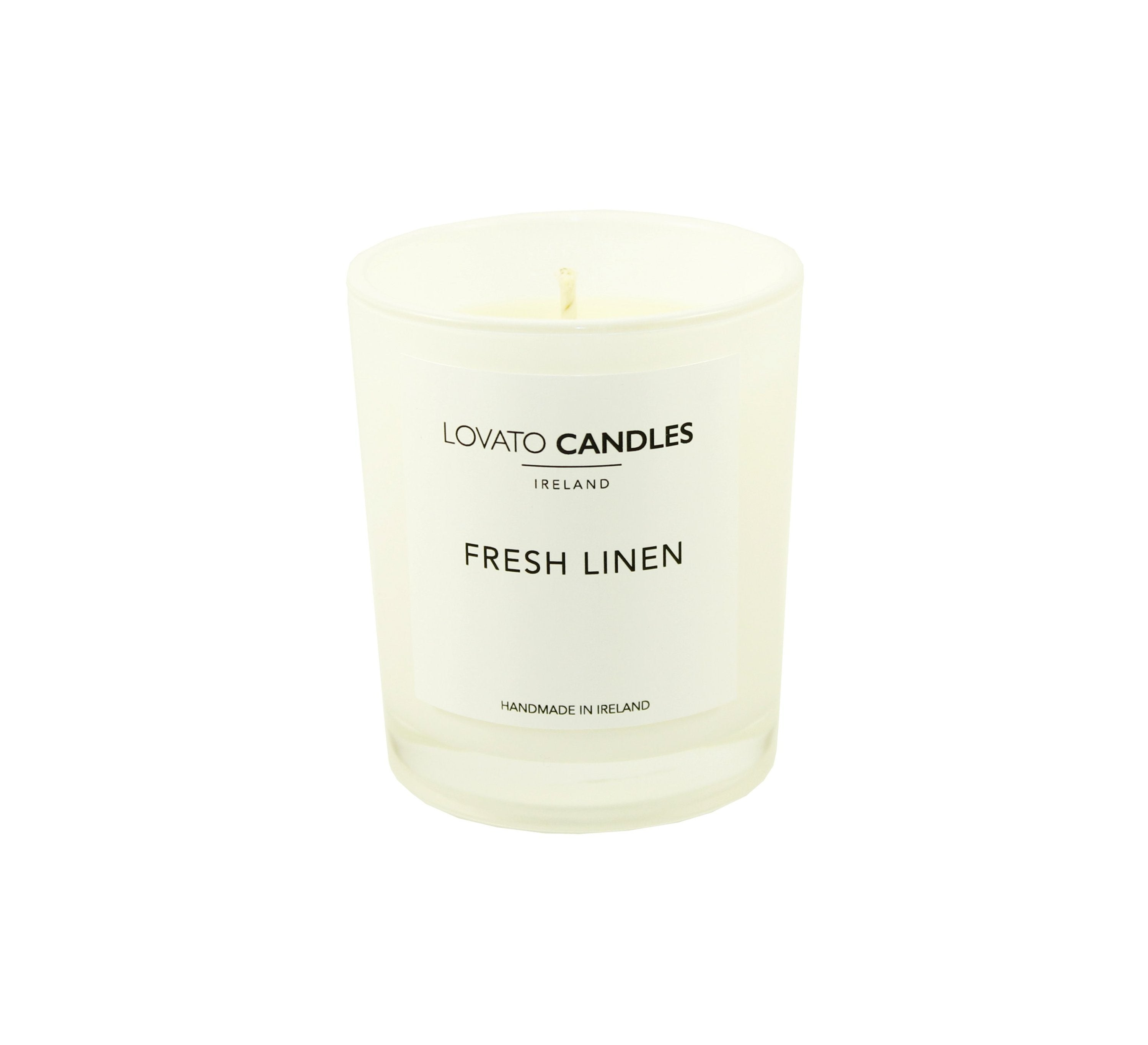 White Votive Candle - Fresh Linen - Lovato Candles