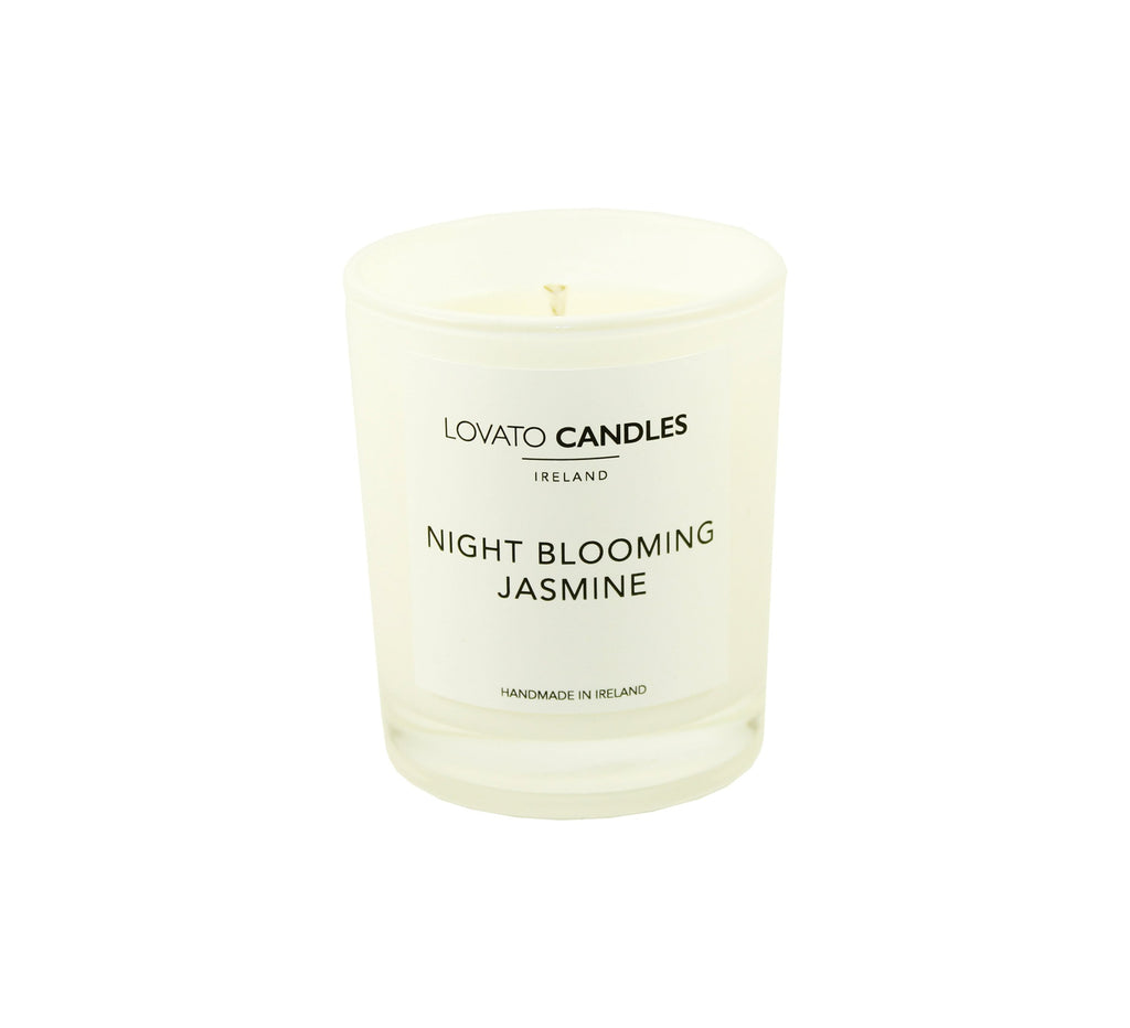 White Votive Candle - Night Blooming Jasmine - Lovato Candles