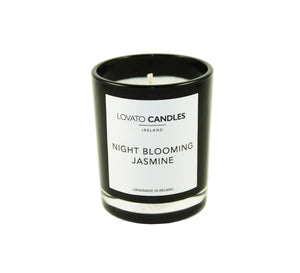 Black Votive Candle - Night Blooming Jasmine - Lovato Candles
